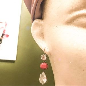 Juicy Couture Jewelry - Juicy Couture Pink Triple Drop Earrings